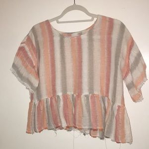 Stripped top, worn once. Vici dolls